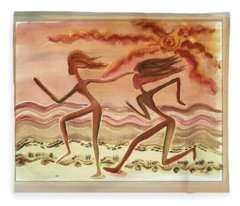 Saharan Runners Fleece Blanket