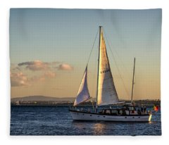 Sail Away From Lisbon Fleece Blanket