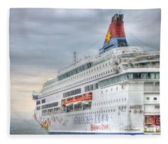 Sail Away Hong Kong Fleece Blanket
