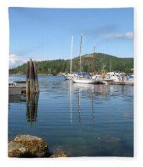 Sail Boats At Pender Horbour Fleece Blanket