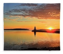 Sail Into The Sunrise Fleece Blanket