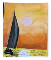 Sailboat Fleece Blanket