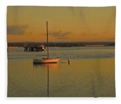 Sailboat Glow Fleece Blanket