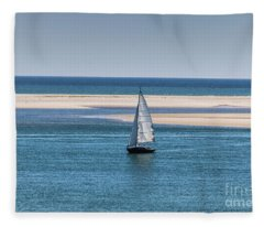 Sailboat In Chatham Harbor Fleece Blanket