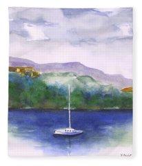 Sailboat In Chattanooga Fleece Blanket