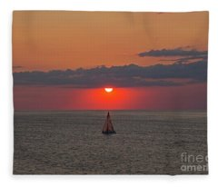 Sailboat Sunset Fleece Blanket