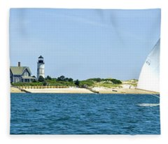 Sailing Around Barnstable Harbor Fleece Blanket