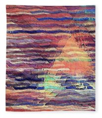 Sailing At Sunset Fleece Blanket