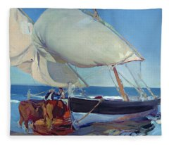 Sailing Boats Fleece Blanket
