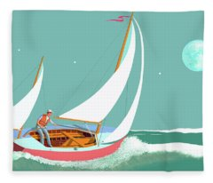 Moonlight Sail Fleece Blanket