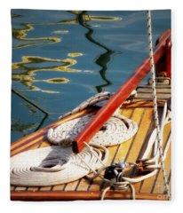 Sailing Dories 4 Fleece Blanket