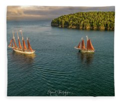 Sailing Frenchman Bay Fleece Blanket