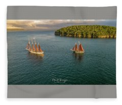 Sailing Frenchman Bay Fleece Blanket