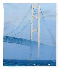 Sailing In The Fog Fleece Blanket