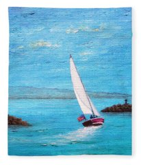 Sailing Out Fleece Blanket