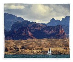 Sailing Past The Sleeping Dragon Fleece Blanket