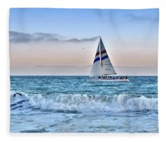 Sailing Santa Cruz Fleece Blanket