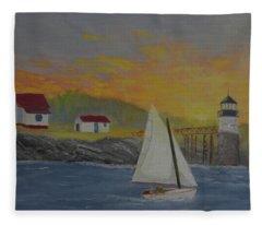 Sailing Sunrise Fleece Blanket