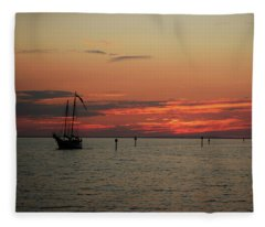 Sailing Sunset Fleece Blanket