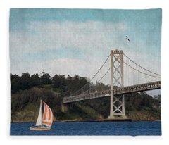 Sailing The Bay Fleece Blanket