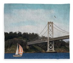 Sailing The Bay Fleece Blanket