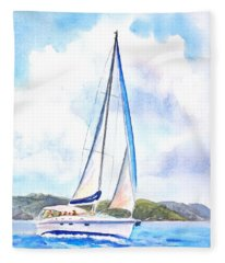 Sailing The Islands 2 Fleece Blanket