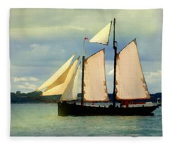 Sailing The Sunny Sea Fleece Blanket