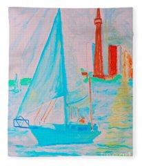 Sailing Toronto, Canada Fleece Blanket