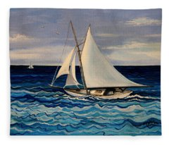 Sailing With The Waves Fleece Blanket