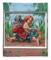 Sailor And Mermaid Fleece Blanket