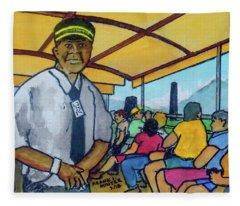 Saint Kitts Train Ride Fleece Blanket