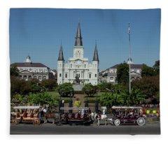 Saint Lewis Cathedral French Quarter New Orleans, La Fleece Blanket