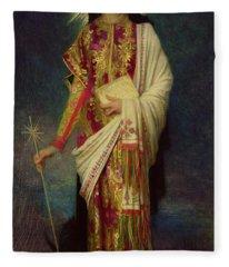Saint Margaret Slaying The Dragon Fleece Blanket