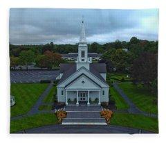 Saint Mary's Church From Above Fleece Blanket