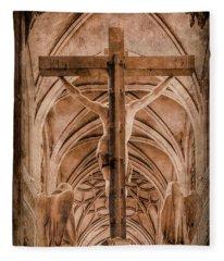 Paris, France - Saint Merri's Cross II Fleece Blanket