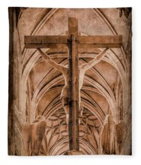 Paris, France - Saint Merri's Cross II Fleece Blanket