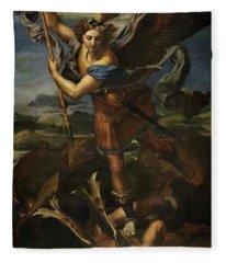 Saint Michael Defeats Satan Fleece Blanket