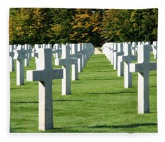 Saint Mihiel American Cemetery Fleece Blanket