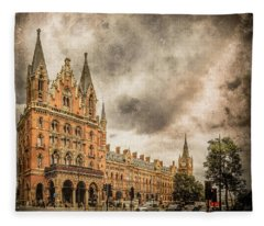 London, England - Saint Pancras Station Fleece Blanket