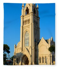 Saint Patrick Catholic Church Of Galveston Fleece Blanket