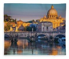 Saint Peters Basilica Fleece Blanket