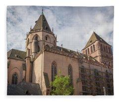Saint Thomas Church Strasbourg France Fleece Blanket