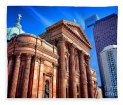 Saints Peter And Paul In Philadelphia   Fleece Blanket