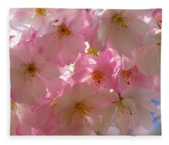 Sakura - Japanese Cherry Blossom Fleece Blanket
