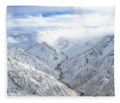 Salang Pass Fleece Blanket