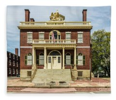 Salem Custom House Fleece Blanket