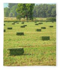 Salem Hay Field Fleece Blanket