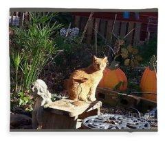Salem In The Garden Fleece Blanket