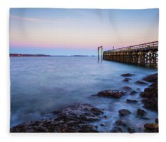 Salem Willows Sunset Fleece Blanket