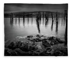 Salen Pier, Isle Of Mull Fleece Blanket